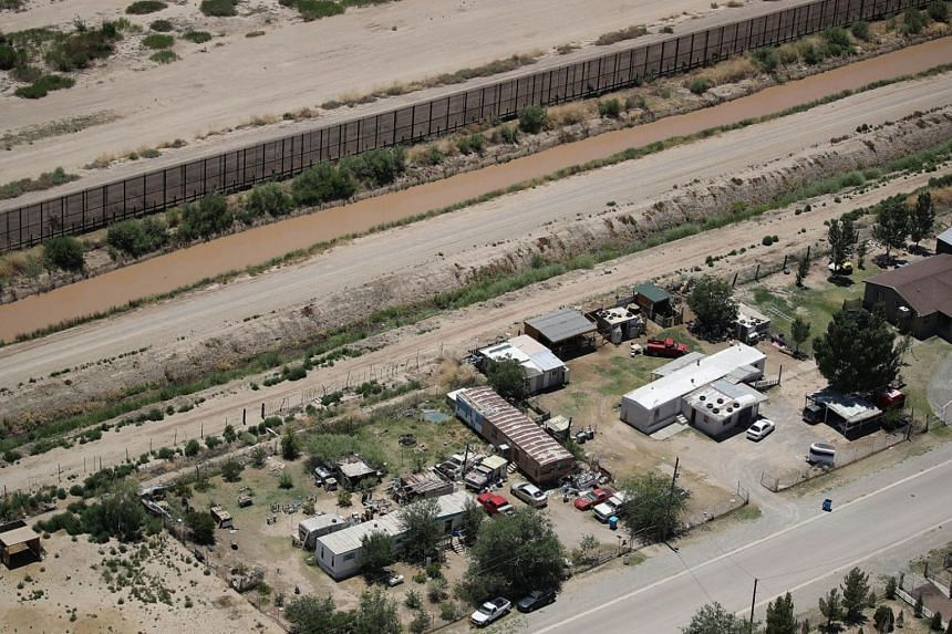 The border between the US and Mexico, in El Paso, Texas, seen in a photo taken on June 19, 2018.