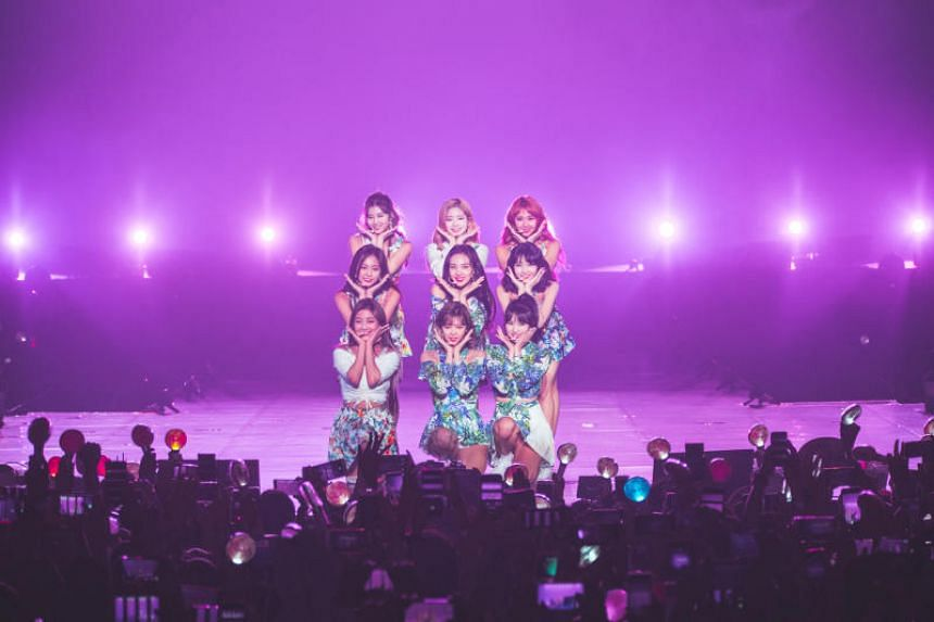 K-pop girl group Twice performed at the Singapore Indoor Stadium on Sunday (June 17).