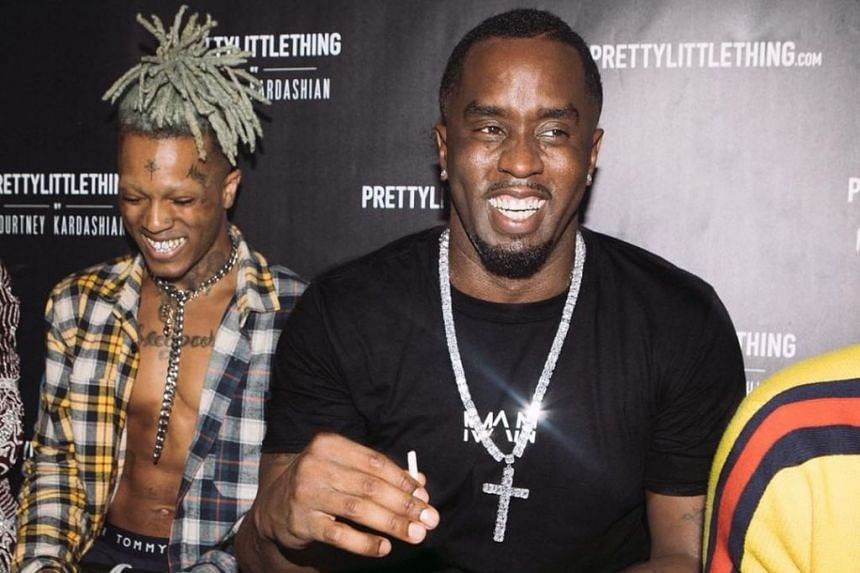 Rapper Diddy (right) paid tribute to XXXTentacion (left) with a photo on social media.