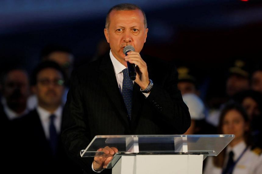 Turkey's President Tayyip Erdogan addressing the audience at Istanbul's third international airport. He often uses enormous building projects as a signature way of leaving an indelible stamp on his nation.