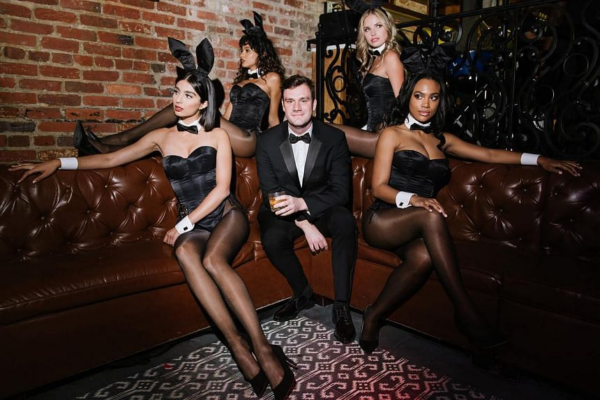 Cooper Hefner at Playboy's No Tie party following the White House correspondent's dinner on April 28, 2018.