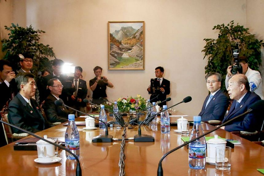 Delegations from the two Koreas launched Red Cross talks on June 22, 2018, to discuss humanitarian issues, including the reunion of separated families.
