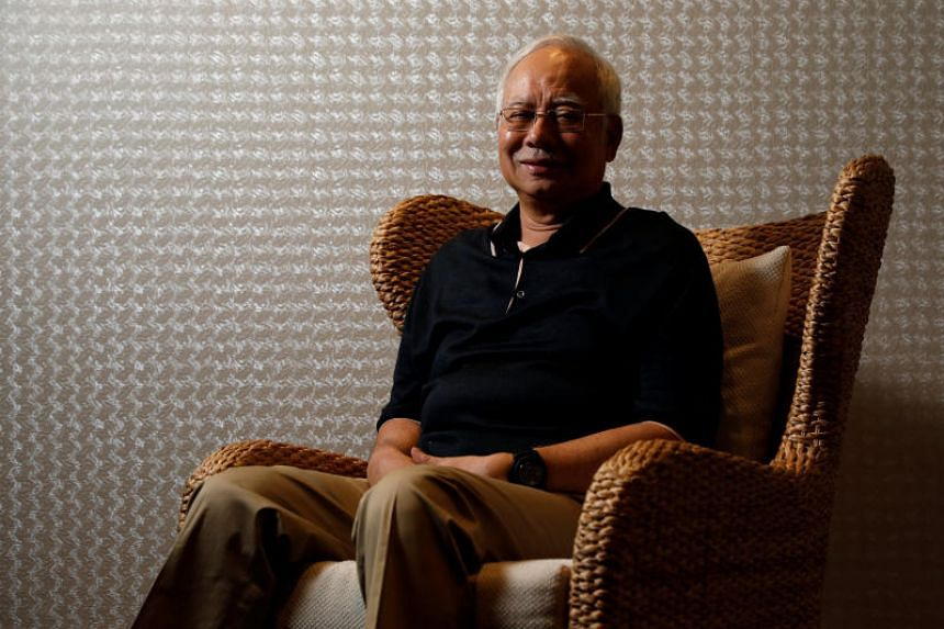 Malaysia's former prime minister Najib Razak at an interview in Langkawi, Malaysia, on June 19, 2018.