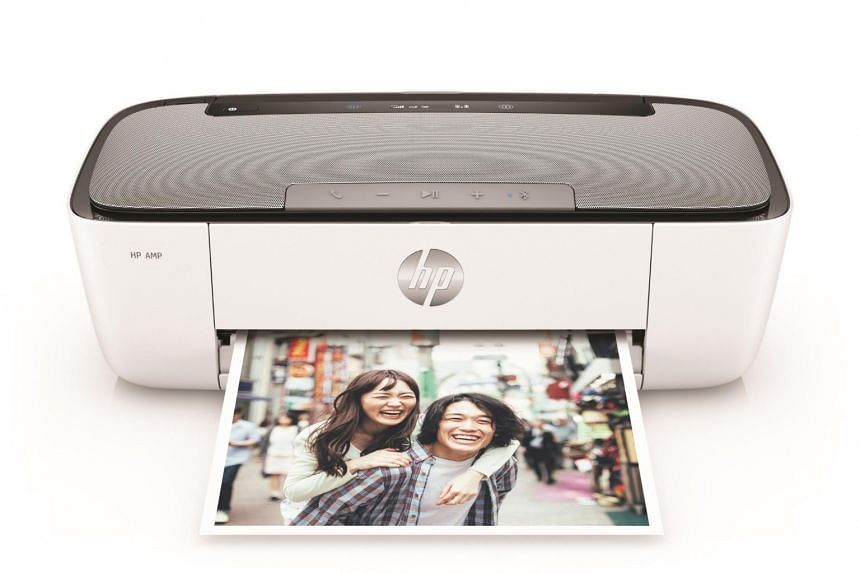 The HP Amp 125 is an inkjet printer and Bluetooth speaker rolled into one.