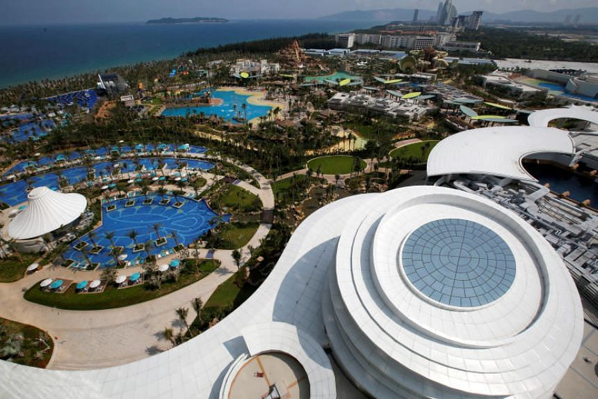 Recreational facilities located in front of Atlantis Sanya hotel in China's Hainan province. Usage of services including Facebook and Twitter would be allowed in areas of Hainan's two biggest cities of Sanya and Haikou.