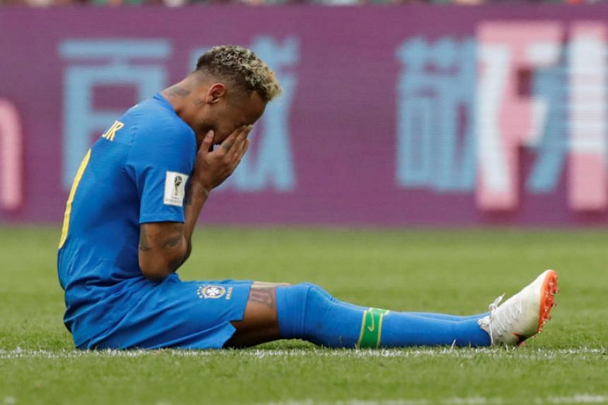 Brazil's Neymar began sobbing inconsolably the moment the final whistle sounded.