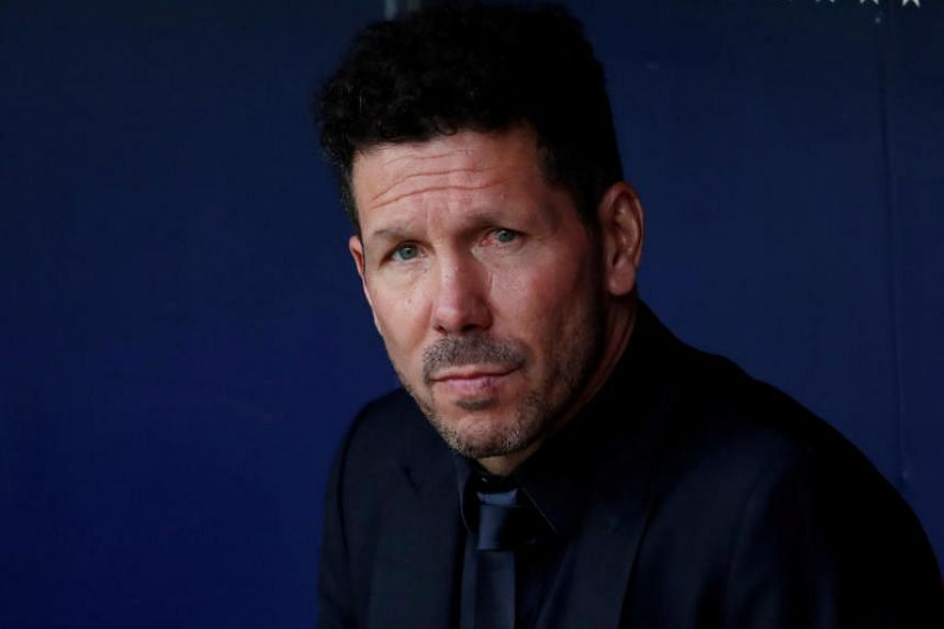 Diego Simeone's (above) tirade was reportedly an audio message sent on WhatsApp to Atletico Madrid assistant coach and former Argentina goalkeeper German Burgos.
