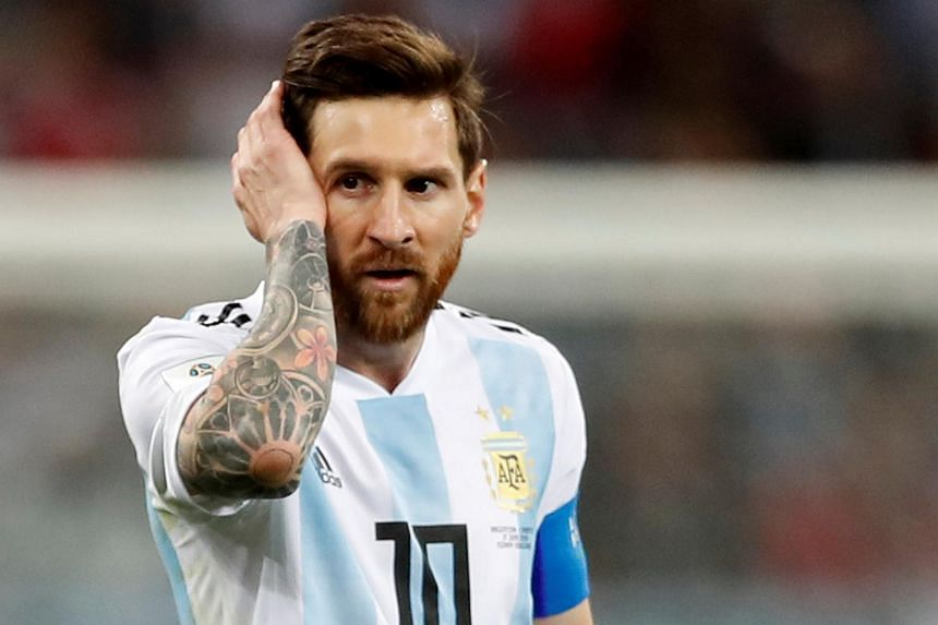 Argentina's Lionel Messi looks dejected after the match against Croatia on June 21, 2018.