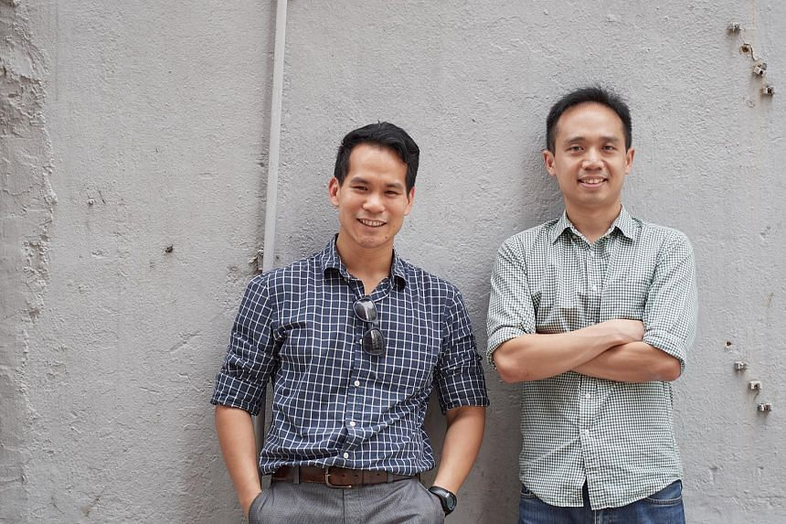 GigaCover founders Chua Cheng Xun (left) and Amerson Lin. The local start-up has launched the Freelancer Income Protection (Flip) policy.