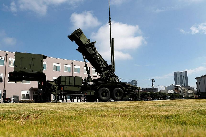 A Patriot Advanced Capability-3 (PAC-3) missile unit at the Defense Ministry in Tokyo, Japan, on Oct 8, 2017.