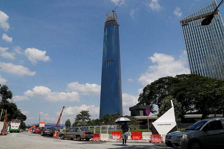 View of the The Exchange 106 (formerly TRX Signature Tower) currently under construction in Kuala Lumpur, Malaysia, on June 3, 2018.