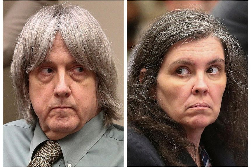 David and Louise Turpin face 49 counts of torture, false imprisonment and abuse over the treatment of their 13 children who were found imprisoned and starving in their suburban home east of Los Angeles. They face up to life in state prison if convict