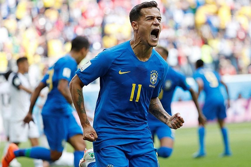 A day after Lionel Messi and his Argentina team fell to a shock 0-3 loss to Croatia at the World Cup, their neighbours Brazil endured a frustrating 90 minutes against Costa Rica. But salvation finally arrived in the form of goals from Philippe Coutin