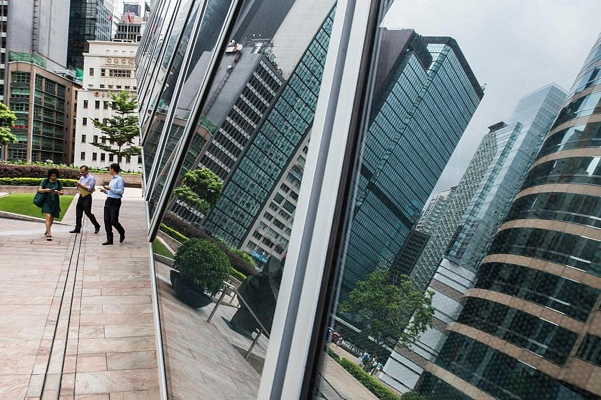 Exchange Square in the central business district of Hong Kong. Occupancy costs for the city's Central district are 30 per cent higher than in London's West End, which took the No. 2 spot in a survey of prime office real estate in the first quarter by