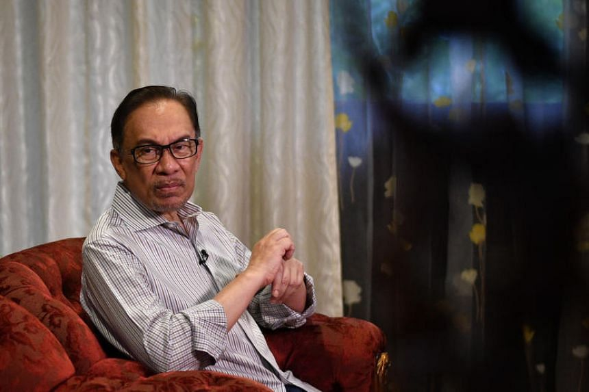 Pakatan Harapan's de factor leader Anwar Ibrahim at home in Kuala Lumpur on May 18, 2018. He was rushed to the Universiti Malaya Medical Centre in Petaling Jaya for treatment on June 23 after his return from Turkey.
