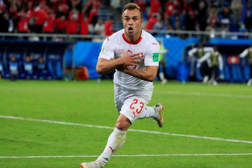 Xherdan Shaqiri scored the winning goal for Switzerland against Serbia in the last minute of regular time on June 22, 2018.