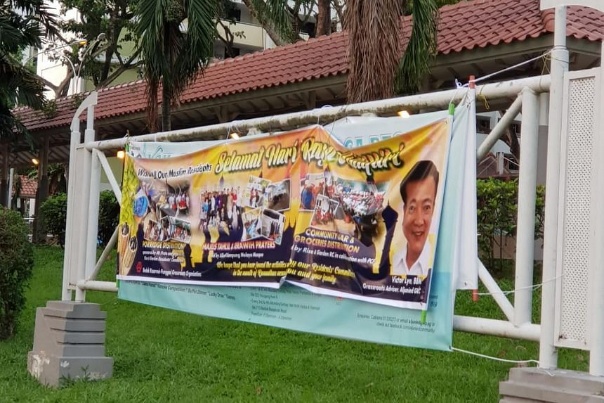 A Facebook user posted a photo where grassroots leader Victor Lye's Hari Raya banner was placed over one put up by the Workers' Party. Mr Lye has since apologised.