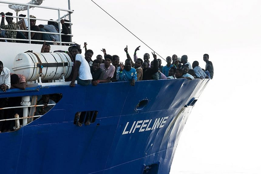 Malta and Italy have refused to take in Lifeline, which is carrying more than 200 rescued migrants.