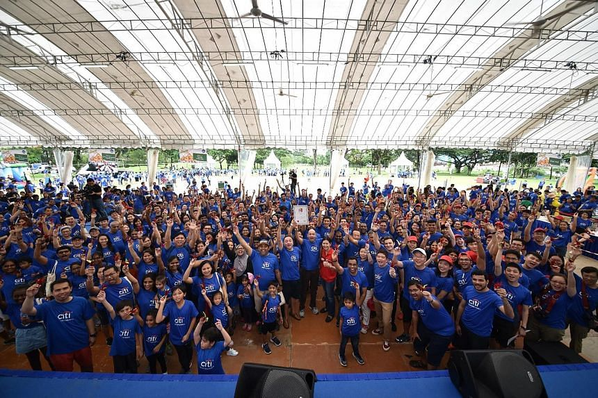 Citi Singapore held its family day and global community day at Bishan Park yesterday.