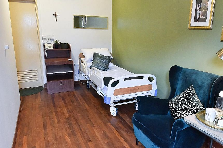 St Bernadette Lifestyle Village in Adam Road provides a 24-hour medical concierge and meals, if required. It has eight rooms, each with its own theme, and residents get help to live as independently as possible. Ms Beatrice Davis, 88, who live