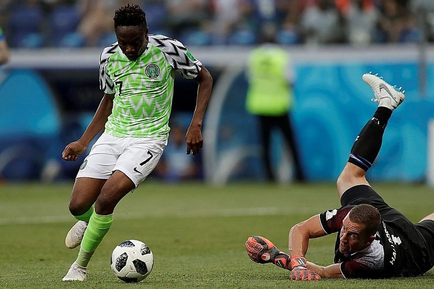 """Ahmed Musa scoring his second goal in Nigeria's 2-0 win over Iceland on Friday, which reignited Argentina's chances of qualifying for the next round. Fans of Lionel Messi's team have even dubbed him """"Lionel Musa"""" for keeping their team's hopes alive."""