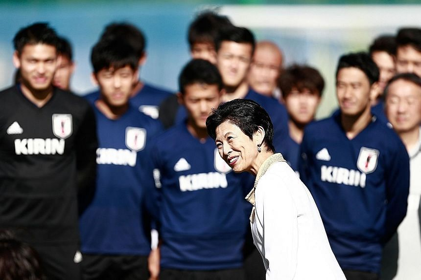 Princess Takamado of Japan paying a visit to the national team in Kazan, Russia on Thursday. The Samurai Blue are bidding to be the first Asian team since the 2010 World Cup in South Africa to seal qualification from the group stage, and they can do