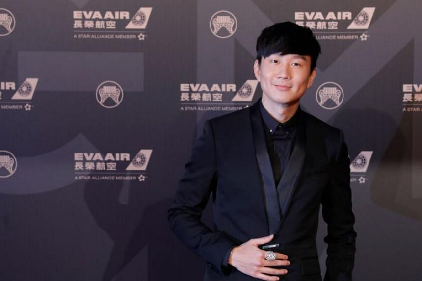 Singaporean singer-songwriter JJ Lin arrives at the 29th Golden Melody Awards in Taipei, on June 23, 2018.