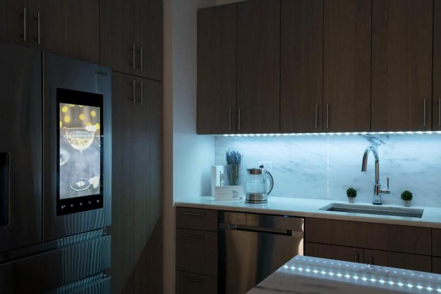Smart-home products, including lighting and appliances that can be controlled via app, in New York, on Dec 1, 2017.