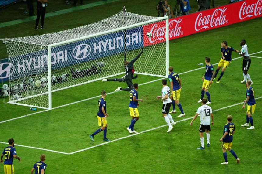 Germany's Toni Kroos scores their second goal.