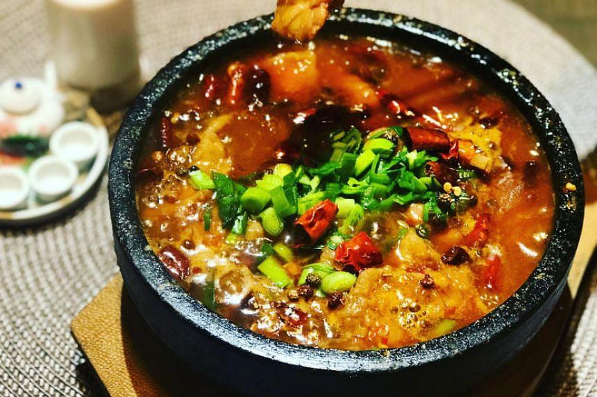 Chengdu restaurant's spicy beef with beancurd.