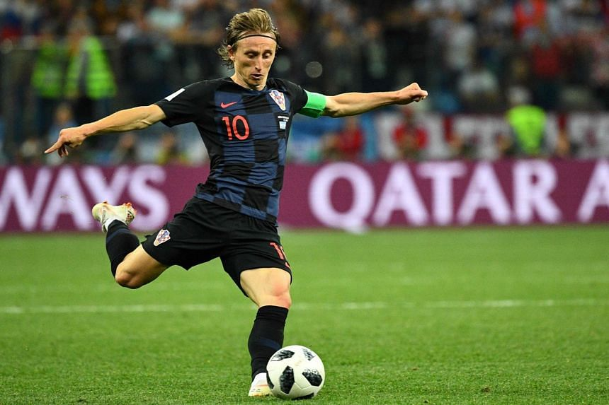 Croatia's Luka Modric playing against Argentina during their World Cup match on June 21, 2018.