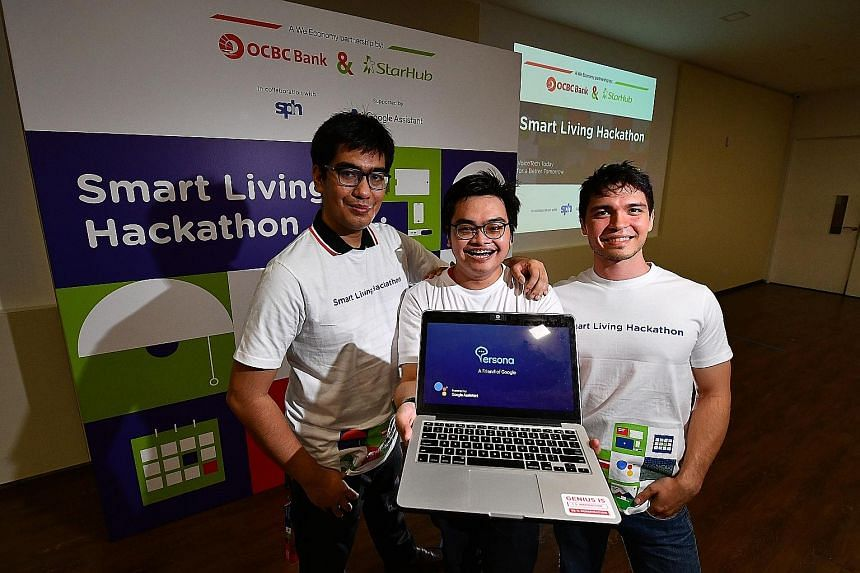 They spent over 24 hours to build on their idea that news content can be personalised for a user with just a simple voice command. The creative solution went on to snag four technology enthusiasts the top prize of $10,000 at the Smart Living Hackatho
