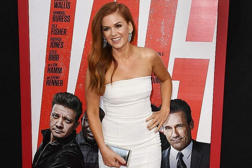 The movie Tag stars Isla Fisher (second from right), alongside (from left) Annabelle Wallis, Jon Hamm, Jake Johnson, Ed Helms and Hannibal Buress. Isla Fisher plays a hilariously competitive wife in Tag, which revolves around the theme of childhood f