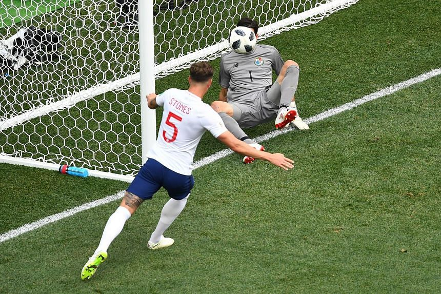 John Stones heading home the rebound for his second goal, after Panama goalkeeper Jaime Penedo could only parry Raheem Sterling's close-range header.