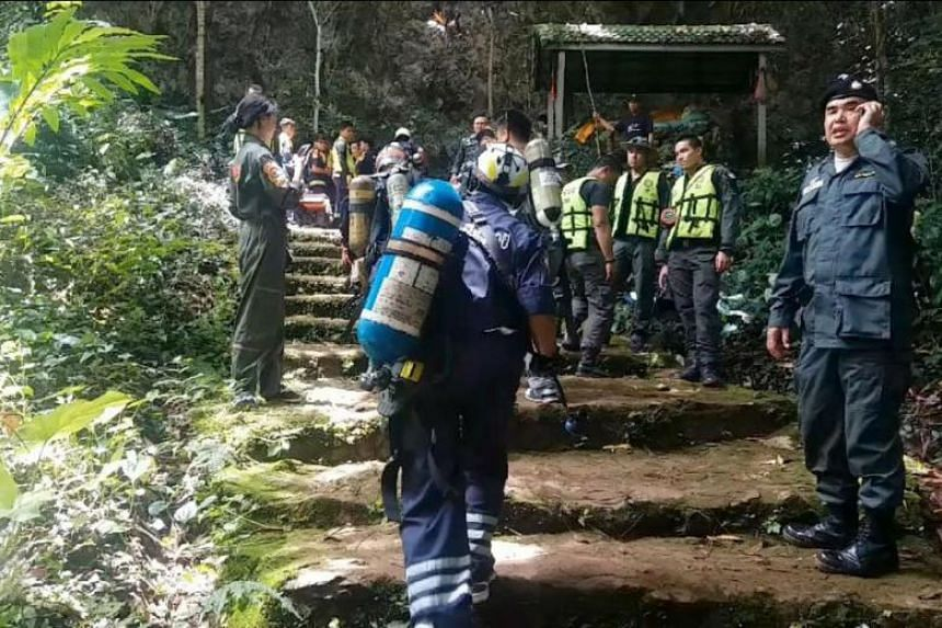 The 12 members of the soccer team and their coach went missing after visiting the Tham Luang-Khunnam Nang Non cave in Chiang Rai province, on June 23, 2018.
