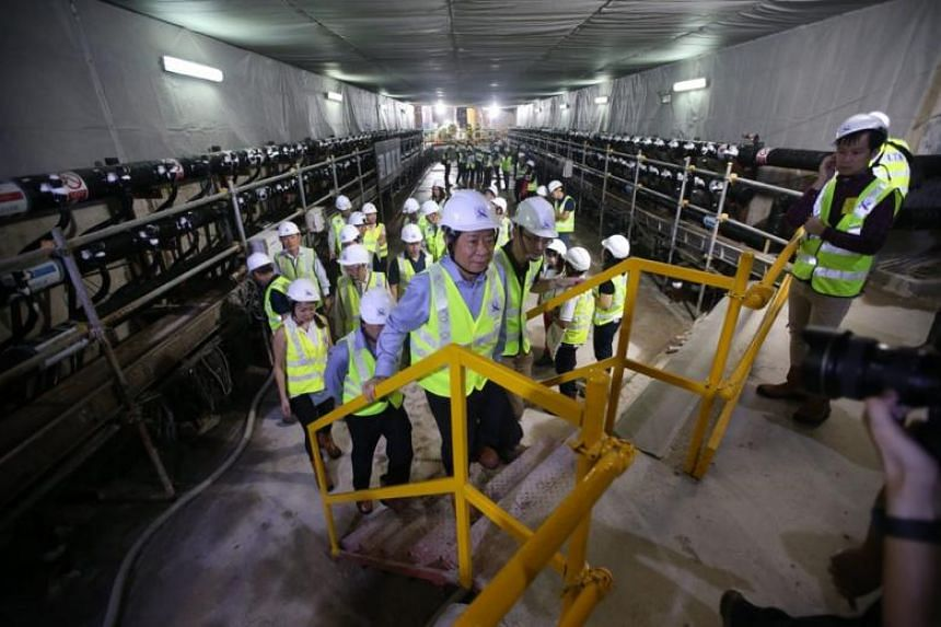 Giving an update during a site visit attended by Transport Minister Khaw Boon Wan on June 25, the Land Transport Authority said the ground-freezing process started in late March.