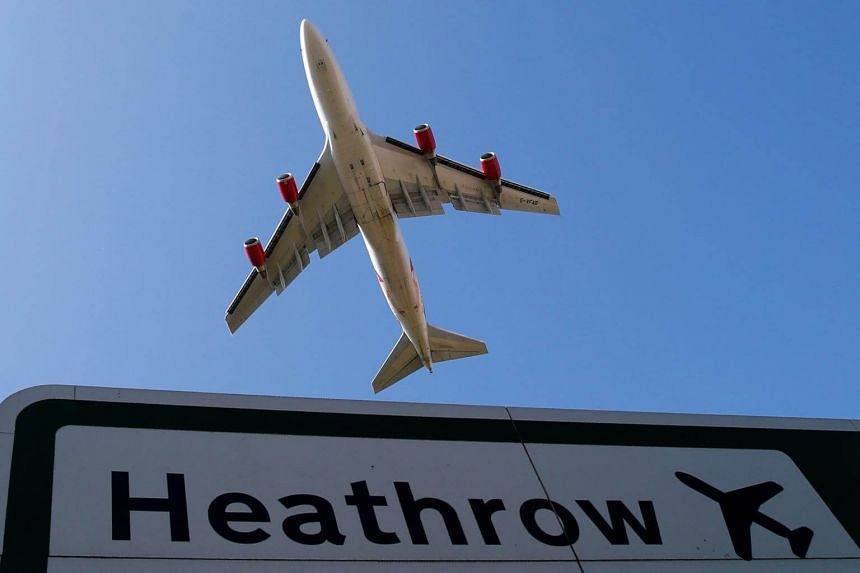 File photo of an aircraft taking off from Heathrow airport in west London.