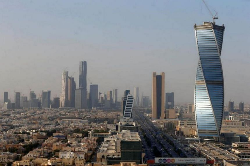 File photo showing buildings in Riyadh, Saudi Arabia, on Dec 18, 2017. At least six loud blasts were heard and bright flashes were seen in the sky over the Saudi capital, on June 24, 2018.