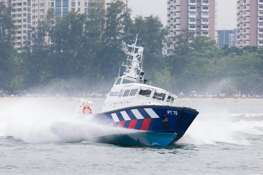 At about 7.30pm on June 23, officers from the Police Coast Guard detected a fast-moving craft, with the men on board heading towards Singapore.