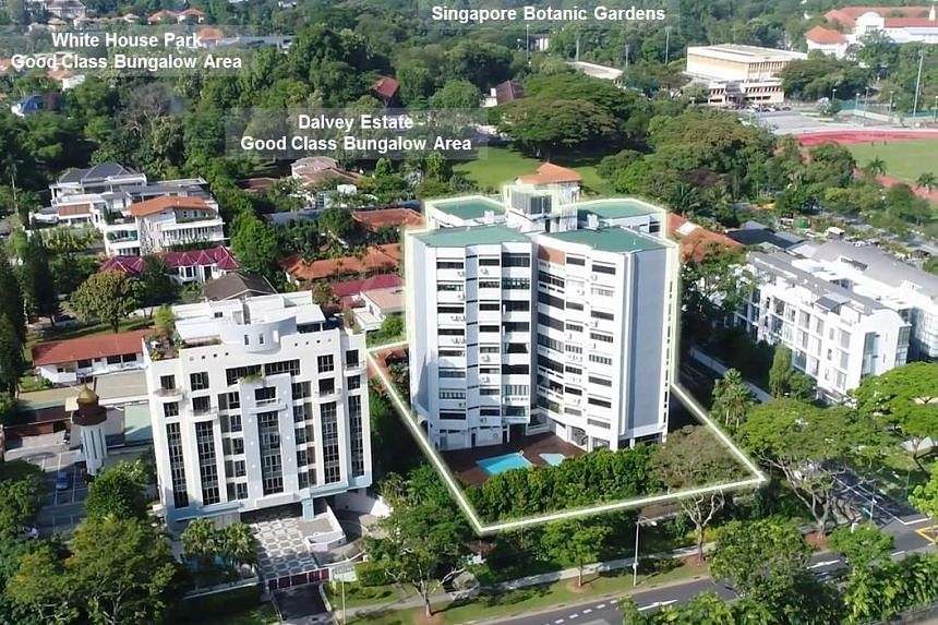The Dalvey Court building comprises 32 apartment units on 4,103.1 sq m, or 44,165 sq ft, of land off Bukit Timah Road.
