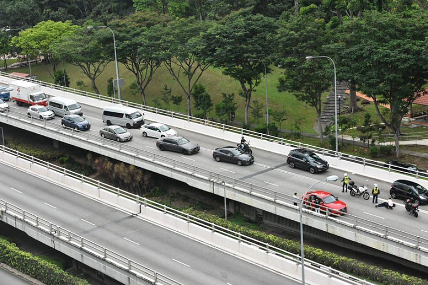The accident happened on the flyover in the direction of Bartley Road.