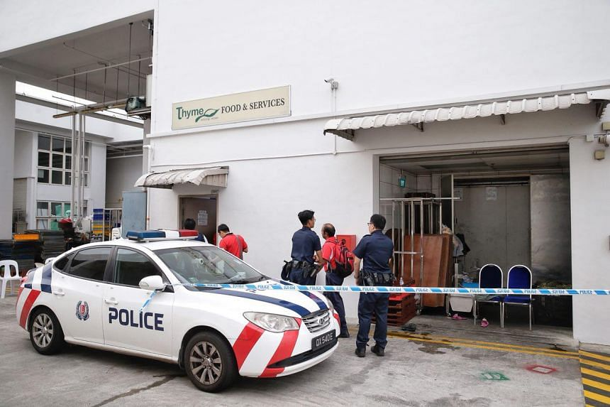 The Straits Times understands that the incident involved hoisting equipment, similar to a dumb waiter, which was used to transport goods inside one of the units in the building.