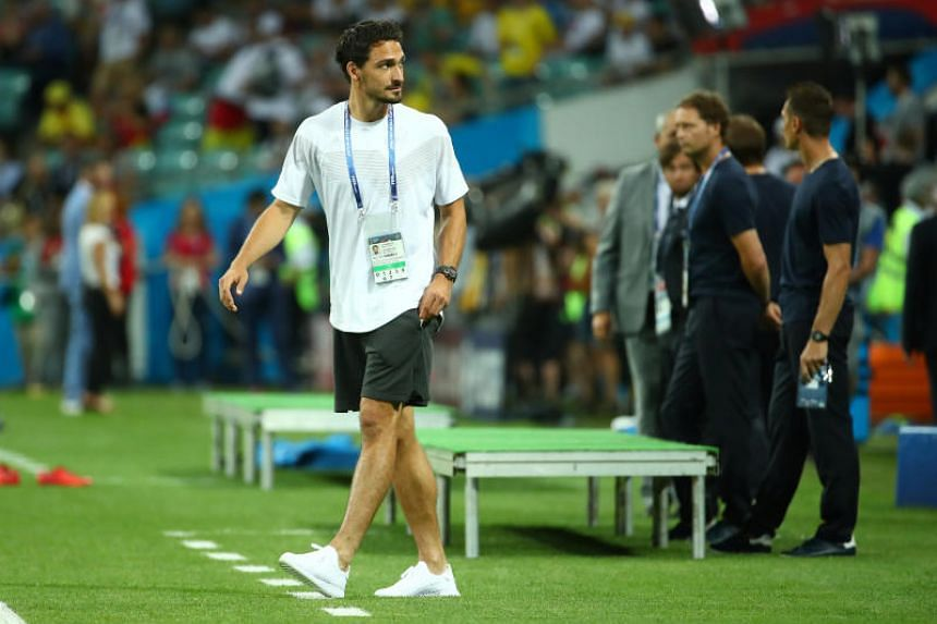 Mats Hummels is back in training after a neck injury kept him out of Germany's win against Sweden.