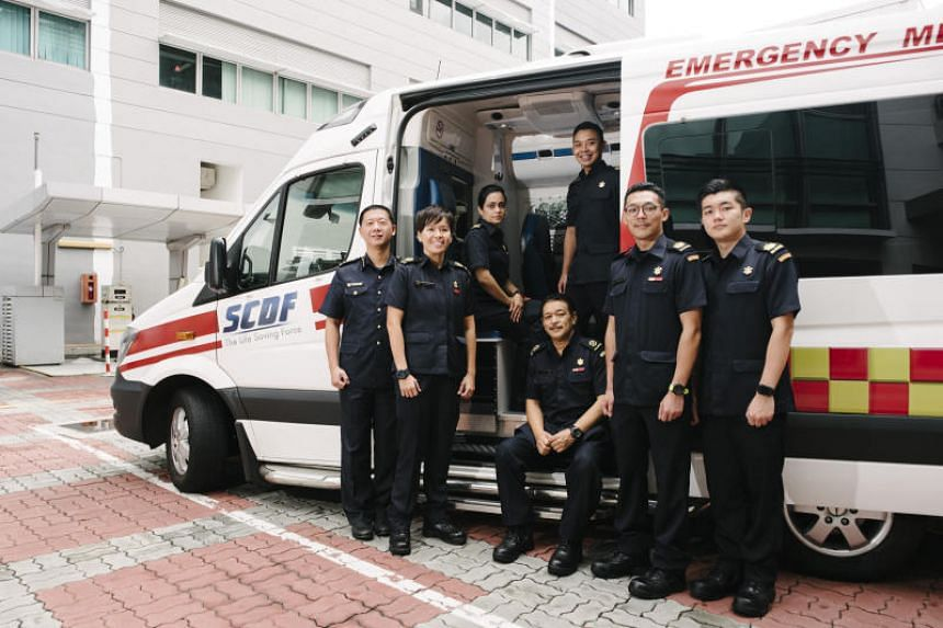 The Singapore Civil Defence Force team which participated in the EMS Asia contest, held in Davao City, Philippines.