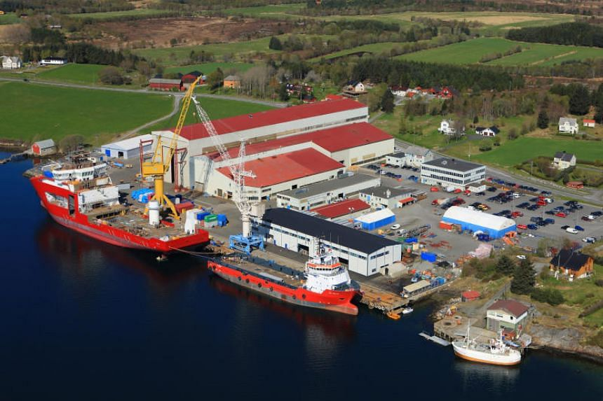 The VARD Aukra shipyad in Norway. Shipbuilder Vard Holdings will build three coast guard vessels for the Norwegian Defence Materiel Agency for more than 5 billion Norwegian kroner.