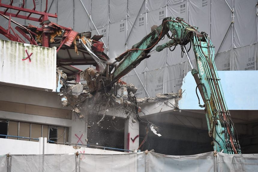 Demolition works at the iconic Rochor Centre on June 26, 2018,