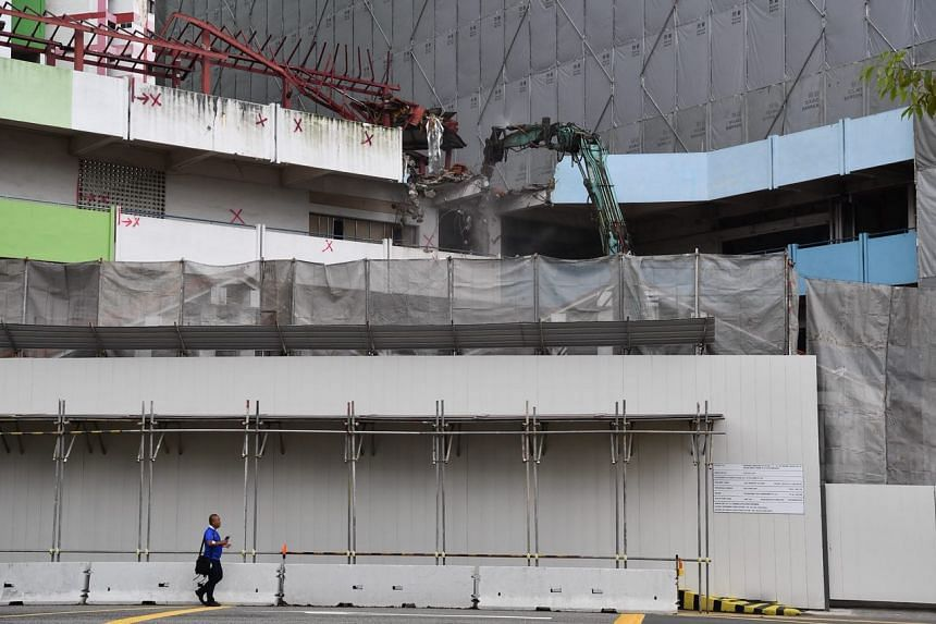 Demolition works at the iconic Rochor Centre on June 26, 2018.