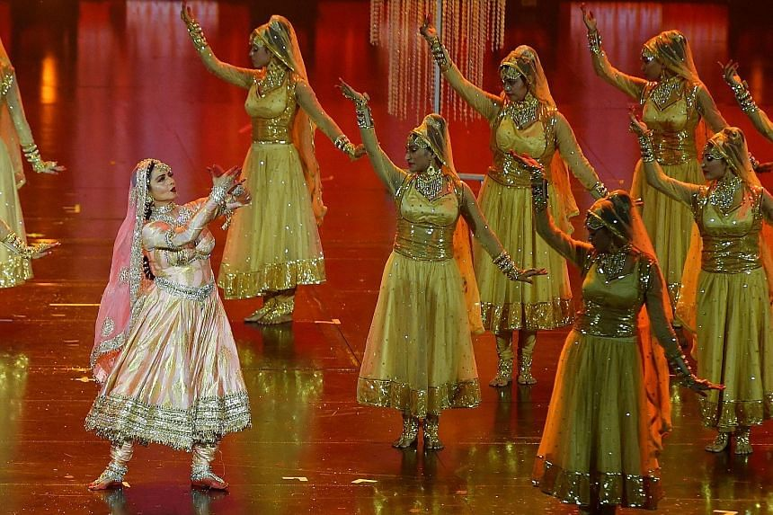 Bollywood actress Rekha performs at the International Indian Film Academy annual awards ceremony in Bangkok on Sunday.