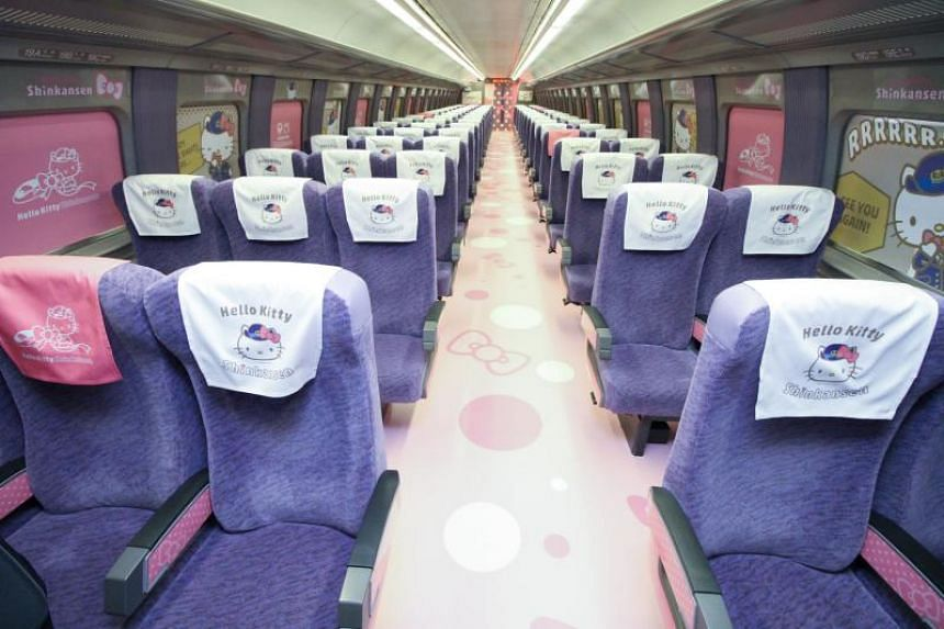 "The special ""Hello Kitty"" bullet train will run for three months between the western cities of Osaka and Fukuoka from June 30, 2018."