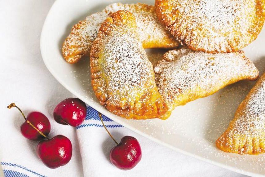 Fried sweet cherry pies.